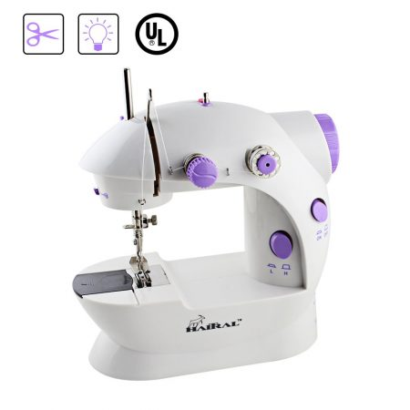 HAITRAL Portable Sewing Machine Adjustable 2-Speed Double Thread Electric Crafting Mending Machine