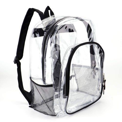 Heavy Duty Transparent Clear Backpack See Through Backpacks for School