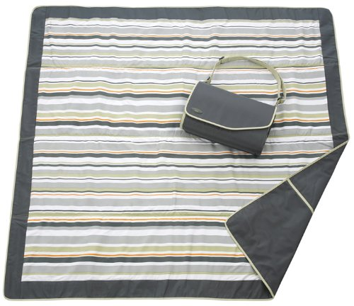 JJ Cole Outdoor Blanket,Gray/Green
