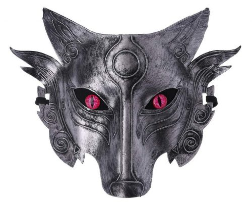 Junlinto Werewolf Wolf Mask Masquerade Cosplay Props Movie Theme Halloween Party Supplies-4