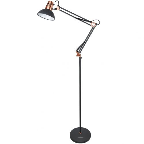 LEPOWER Metal Floor Lamp, Architect Swing Arm Standing Lamp with Heavy Metal Based
