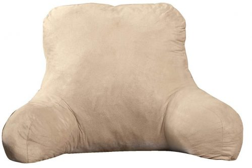 Large Firmly Stuffed Sitting Support Bed Pillow with Arms for Comfort while Reading & Relaxing
