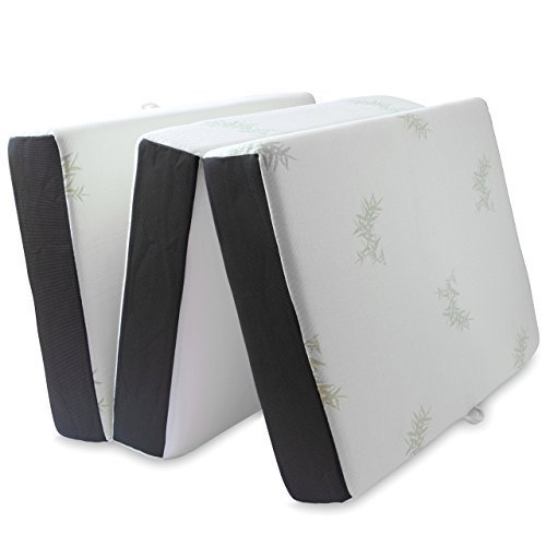 LifeSmart Memory Foam Ventilated Mattress Tri Fold
