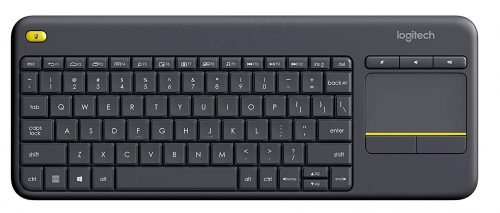 Logitech K400 Plus Wireless Touch TV Keyboard with Easy Media Control and Built-in Touchpad-Mini Wireless Keyboards