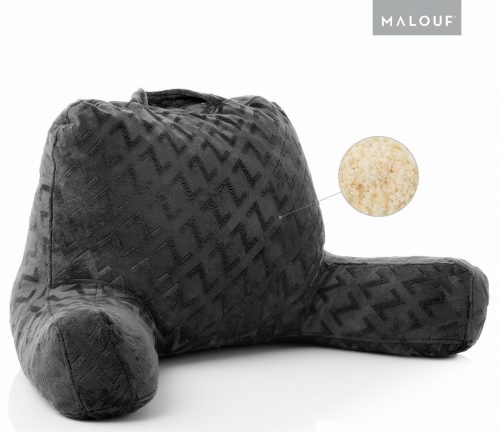 MALOUF Z Foam Filled Reading Pillow With Super-Soft Velour Cover