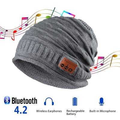 Pococina Upgraded 4.2 Bluetooth Beanie Music Hat Winter Knit Hat Cap