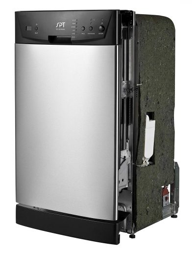 """SPT SD-9252SS Energy Star 18"""" Built-In Dishwasher, Stainless Steel-18 Inch Dishwashers"""