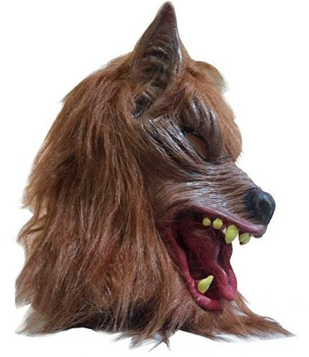 SUPOW Halloween Wolf Mask, Costumes Creepy Scary Full Face Werewolf Mask