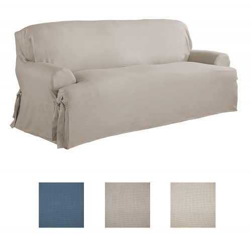 Serta | Relaxed Fit Durable Woven Linen Canvas Furniture Slipcover