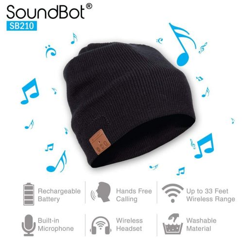 SoundBot¨ SB210 HD Stereo Bluetooth 4.1 Wireless Smart Beanie Headset-Bluetooth Beanies