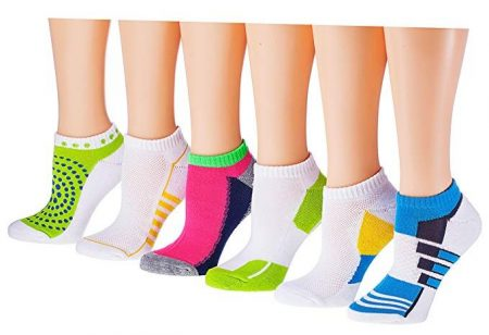 Tipi Toe Women's 6-Pairs Low Cut/No Show Athletic Sport Socks