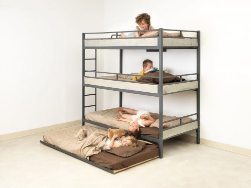 Triple Bunk Bed with Trundle -Triple Bunk Beds