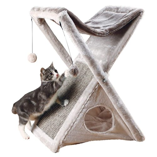 Trixie Pet Products Miguel Fold and Store Cat Tower, 20.25 x 13.75 x 25.5