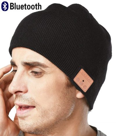 Upgraded Unisex Knit Bluetooth Beanie Winter Music Hat Headphones V4.2 w