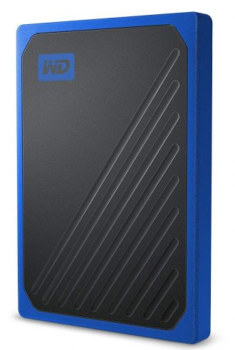 WD 500GB My Passport Go Cobalt SSD Portable External Storage