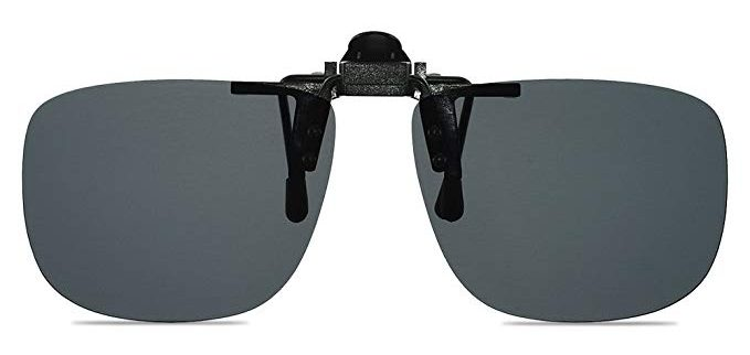 Wangly Polarized Unisex Clip On Flip Up Sunglasses Over Prescription And Reading Glasses Frames Suitable For Driving