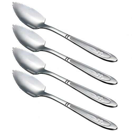 Zicome Grapefruit Spoons, Stainless Steel, 6-2/5-Inch, Set of 4