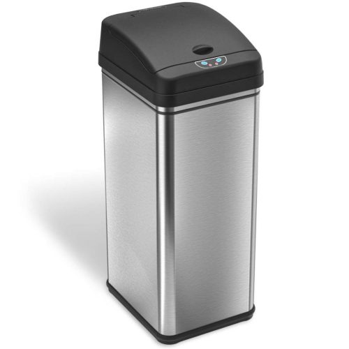 iTouchless 13 Gallon Stainless Steel Automatic Trash Can -Gallon Trash Cans