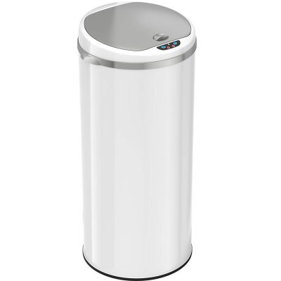iTouchless Round Sensor Matte Deodorizer Finish Trash Can