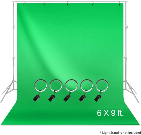 LimoStudio Green Muslin Backdrop