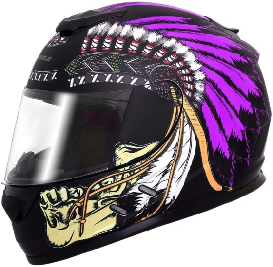 Triangle Indian Theme Full-Face Women Motorcycle Helmets