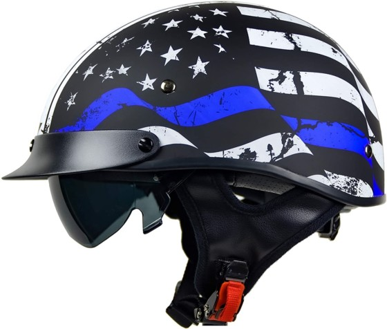 Vega Warrior Motorcycle Half Helmet