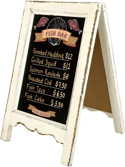 MyGift Store Small Wood Chalkboard Sign