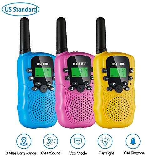 3 Pack Of Kids Walkie Talkies For The Age Of 5 To 10 Years Old