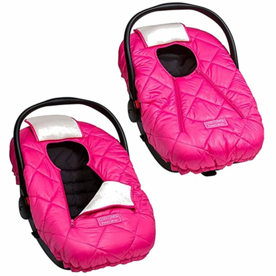 Cozy Cover Premium Infant Car Seat Cover (Pink) with Polar Fleece