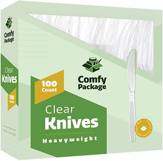Heavyweight Disposable Clear Plastic Knives