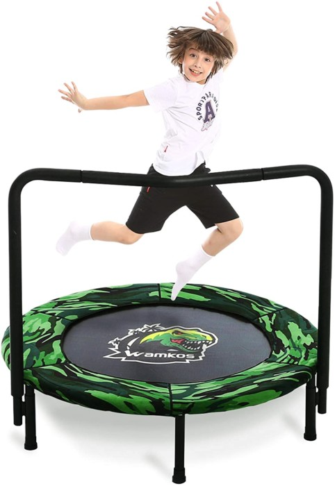 Wamkos 2020 Upgraded Dinosaur Mini Trampoline