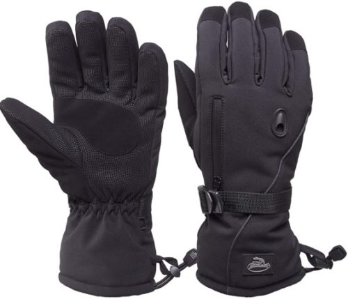 Snowboard Gloves with Waterproof and Thinsulate for Cold Winter-Black
