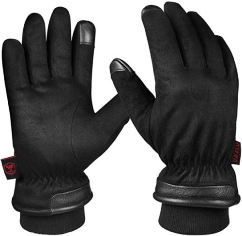 Winter Gloves Touchscreen Fingers for Driving, Motorcycle - Hands Warm in Cold Weather Thermal Gifts for Men