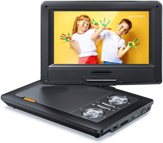 APEMAN 12-Inch Upgraded Portable DVD Player