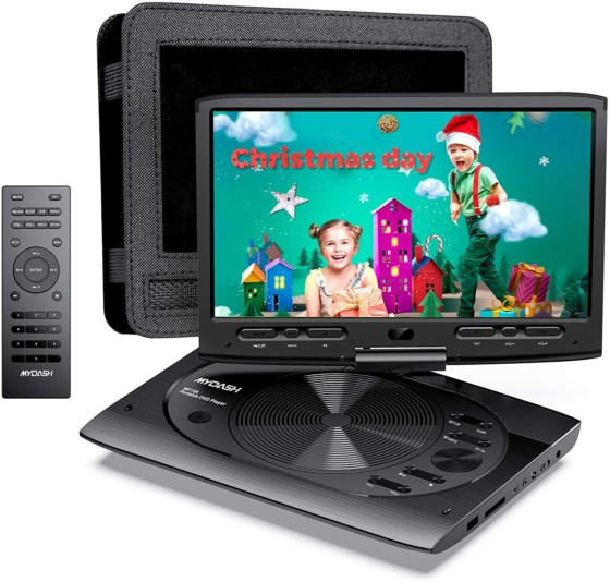 NAVISKAUTO 14-inch Portable Blu-Ray DVD Player