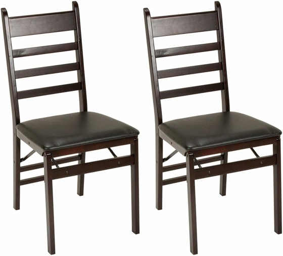 #1.Cosco Wood Folding Chair with vinyl seat & Ladder Back