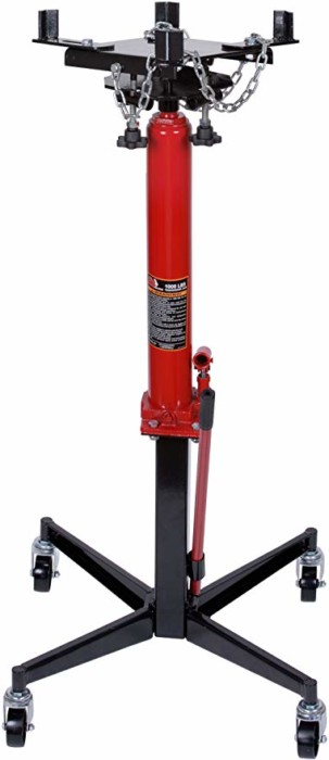 #2.Torin Big Red Telescoping Hydraulic Transmission Floor Jack