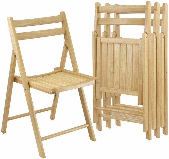 #3. Winsome Robin 4-PC Folding Chair Set