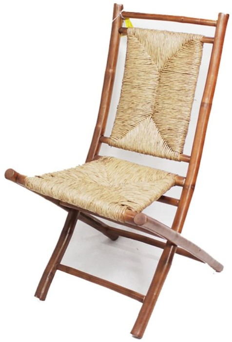 #6. Heather Ann Creations Bamboo Folding Chairs with Triangle Weave