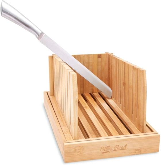 #6. Silky Road Bamboo Bread Slicer
