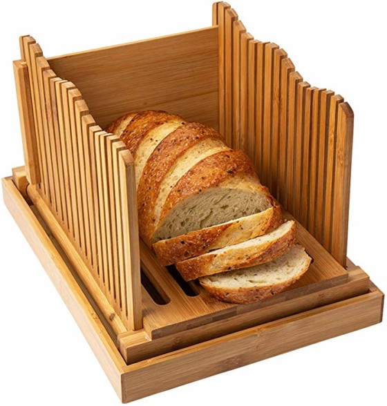 #8.Bamboo Bread Slicer