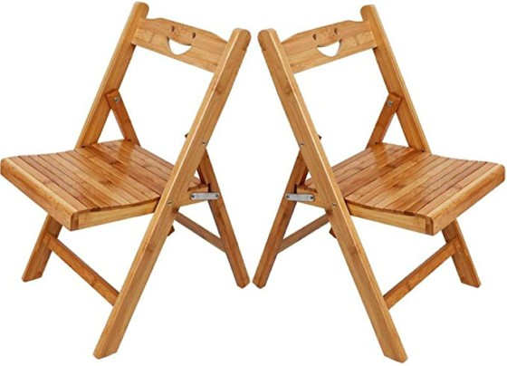 #9.Asunflower Wood Folding Chair Set of 2