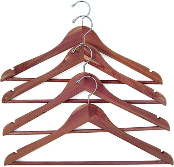 #7- Household Essentials 26140 CedarFresh Red Cedar Wood Clothes Hangers