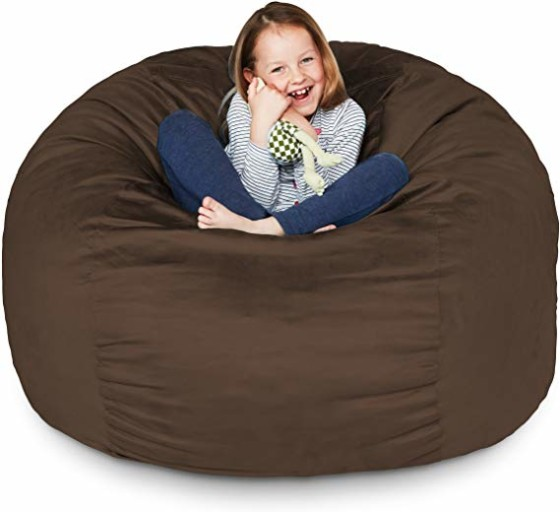 #09- Lumaland Luxury 3-Foot Bean Bag Chair