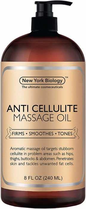 #10- New York Biology Anti Cellulite Treatment Massage Oil