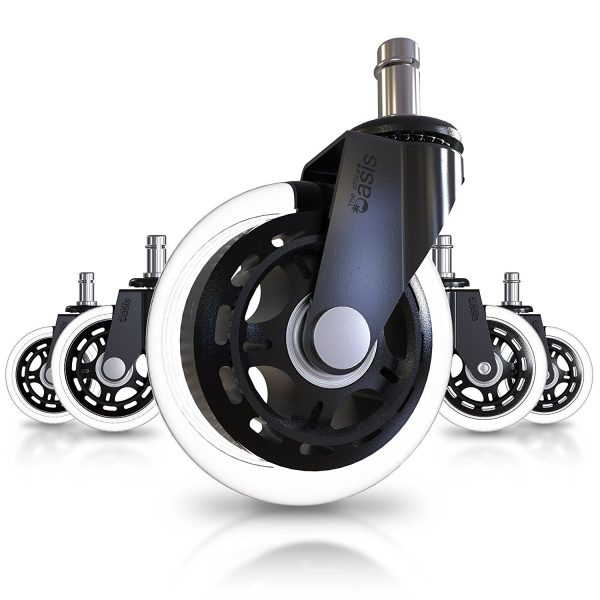 10. Office Chair Caster Wheels (Set of 5) - Heavy Duty & Safe for All Floors Including Hardwood
