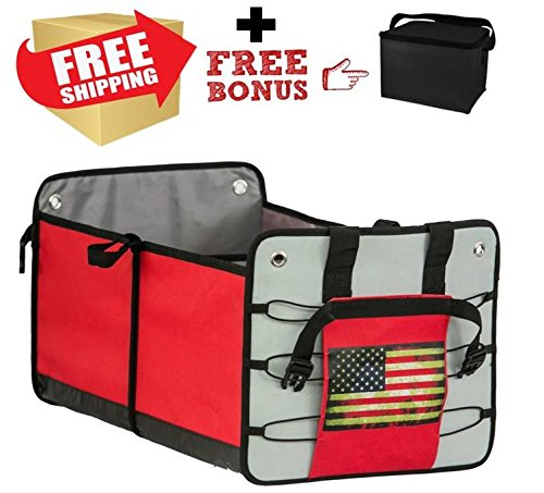 12. Premium Car Trunk Organizer with a Free Cooler Bag -BEST GIFT FOR MEN AND WOMEN