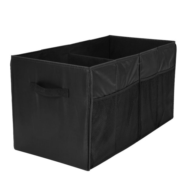 2. Trunk Organizer for Car with Two Handles and Side-Pockets