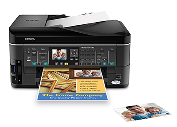 Epson WorkForce 630 Wireless All-in-One Color Inkjet Printer, Copier, Scanner, Fax (C11CB0720