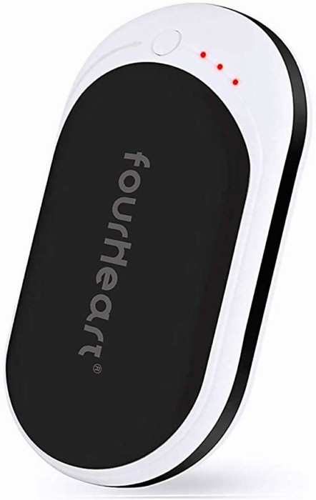 #3. Fourheart Rechargeable Hand Warmers